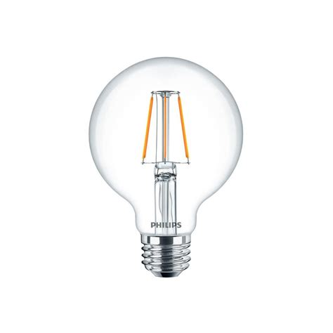 Lu Philips Led Bulb 7 Watt philips 40w equivalent clear glass dimmable g25 with warm