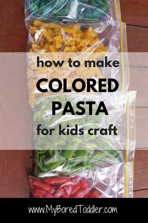 how to make colored how to make colored pasta for craft my bored toddler