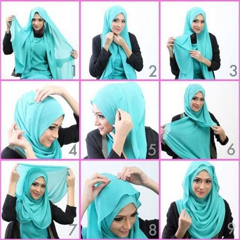 Tutorial Jilbab Panjang Simple | macam macam tutorial hijab pashmina simple dan stylish