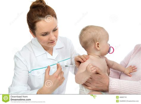 children vaccines flu caign doctors hand with syringe vaccinating child baby flu