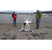 Wind Turbine Powered Car Test  YouTube