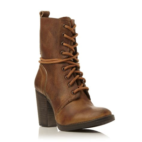 Jupiter Boots Brown steve madden jupiter h sm heeled leather lace up boot in
