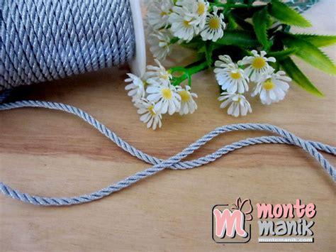 Bahan Baku Aksesoris Craft Murah Bunga Mawar Satin tali twist silver tlc 04 montemanik pusat bahan dan