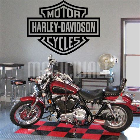 Wall Sticker Harley Davidson 02 wall decals harley davidson logo wall stickers