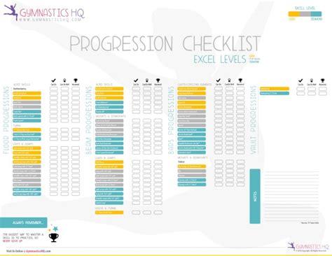 exle skill levels specific gymnastics skill progression checklists