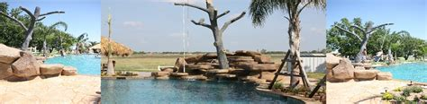 worlds largest swing pool builder houston conroe lazy river specialist