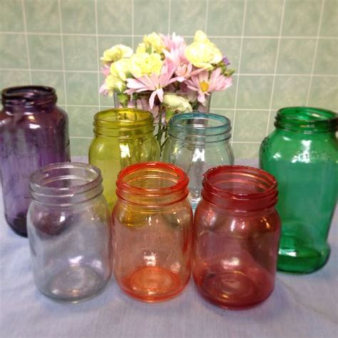 colored jars best 10 color jars ideas on designs for