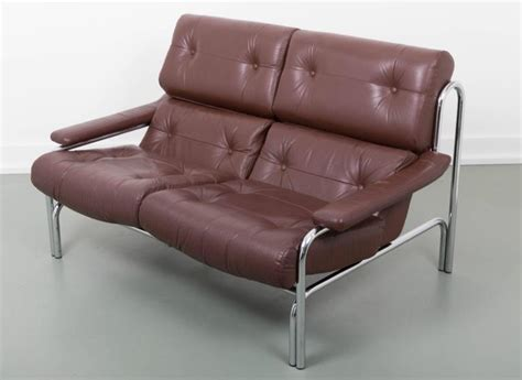 1970s couch leather and chrome pieff 1970s sofa for sale at 1stdibs