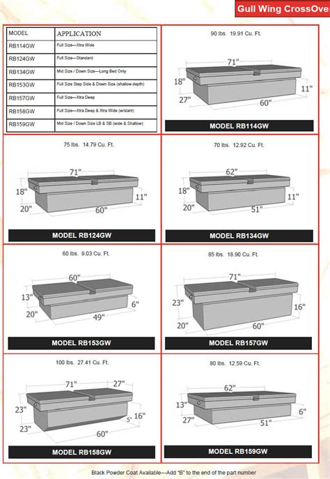 Brute Tools Like Mba by Universal Truck Tool Box Gull Wing Lid By Brute