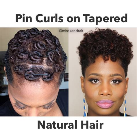 Roded Black Hair Style | how to pin curls on tapered twa video black hair