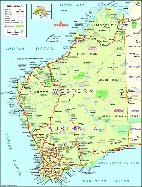 map of western australia maps western australia map