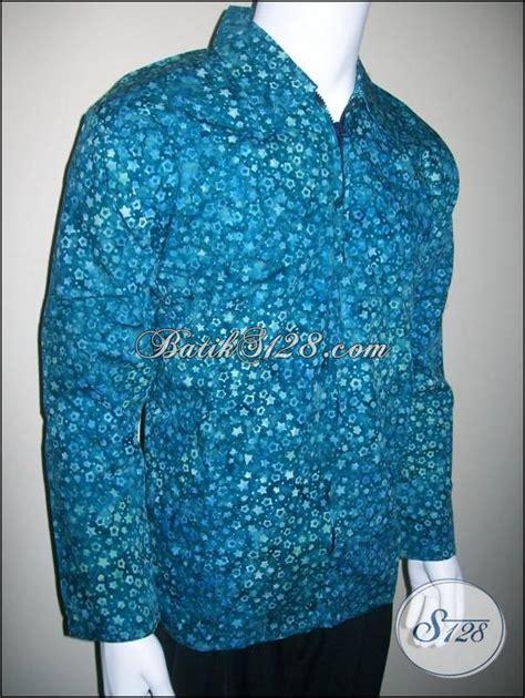 jual jaket batik pria warna hijau motif bintang