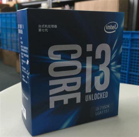 Intel I3 7350k Intel Lga 1151 Processor intel 7 series processor i3 7350k i3 7350k boxed