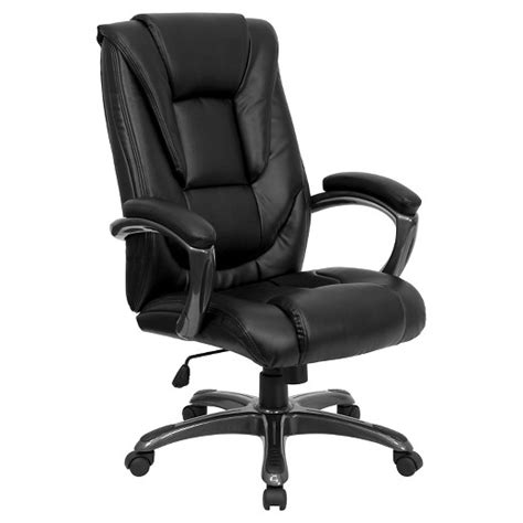 high  executive swivel office chair black leather flash furniture target