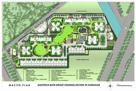 3 Bedroom Apartment Floor Plans by Master Plan Assotech Blith At Sector 99 Gurgaon Dwarka