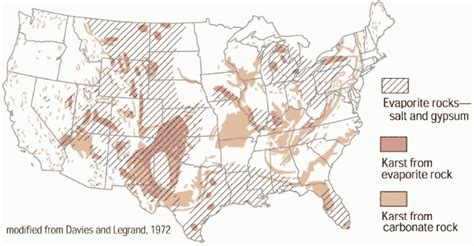 Sink Holes Usa by Us Sinkhole Map Map Of Sinkholes In The Us