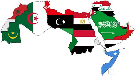 map of the arab world file a map of the arab world with flags png wikimedia