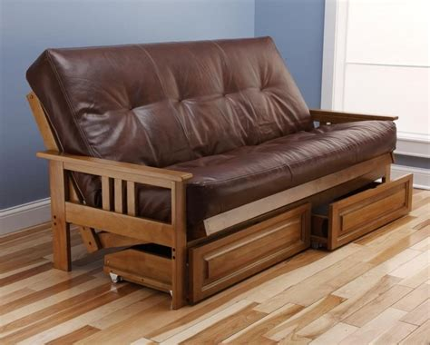 mattress size futon sofa bed and drawer set honey oak