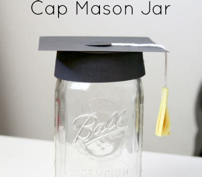 How To Make A Graduation Cap Out Of Paper - diy crafts make a graduation cap jar crafting a