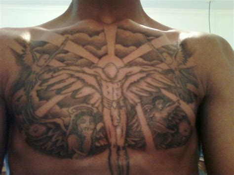 chest piece tattoo ideas for men cloud on chest www pixshark images