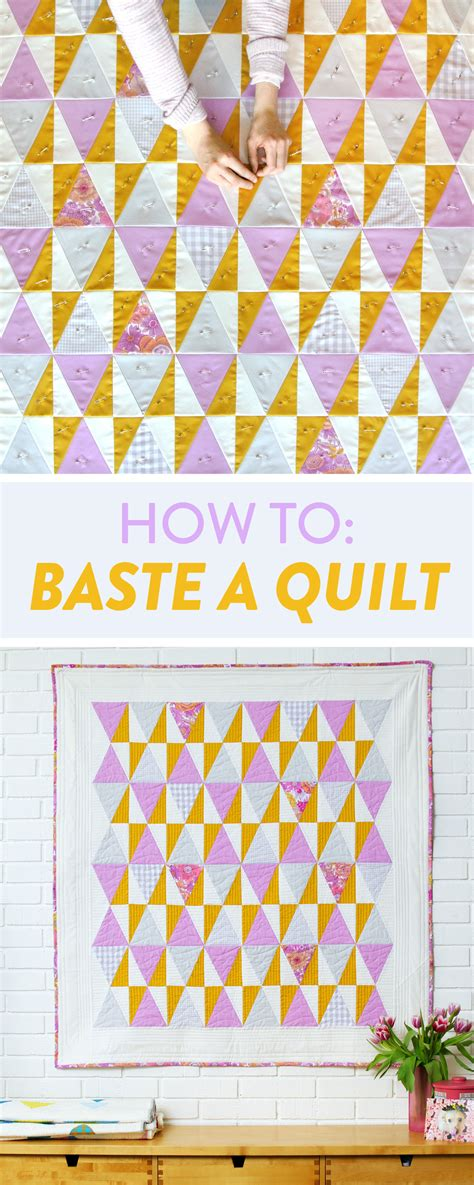 how to pin baste a quilt on a table how to baste a quilt suzy quilts