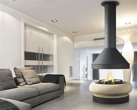 Central Fireplace Design by Zeus Central Fireplace Nature Steel Design Gadgetify