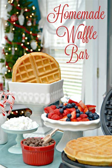 Magical Kid's Holiday Table and Homemade Waffle Bar   Mom 4 Real