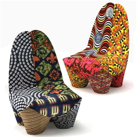Fun Armchairs Through The French Eye Of Design African Wax Fabrics