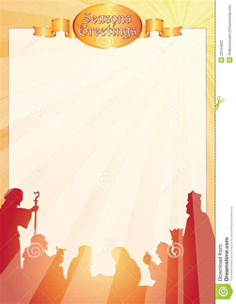 Rays Belen Greetings Letter Stock Vector Image 22144822 Nativity Letter Template