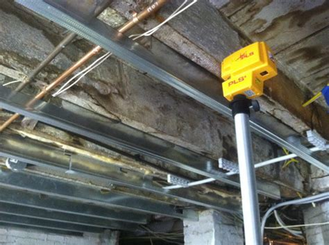 Ceiling Studs by How To Use Metal Studs For Strapping And Leveling A