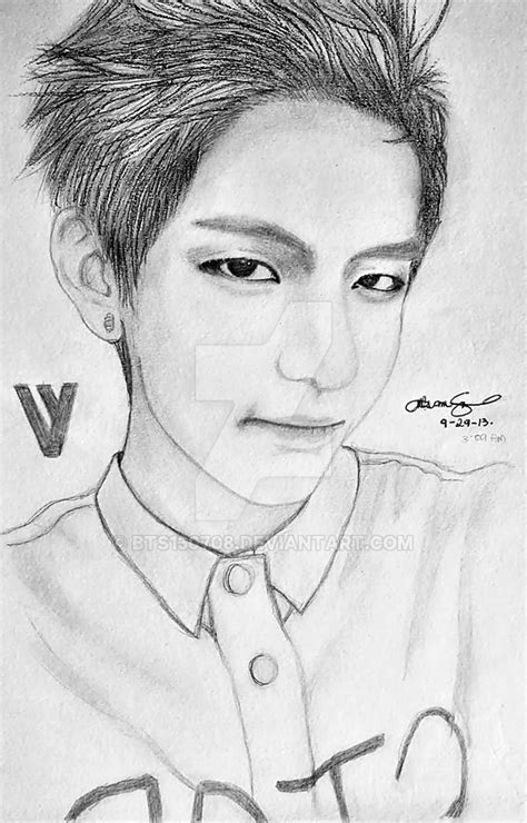 V Drawing Bts Easy by Taehyung V By Bts130708 On Deviantart