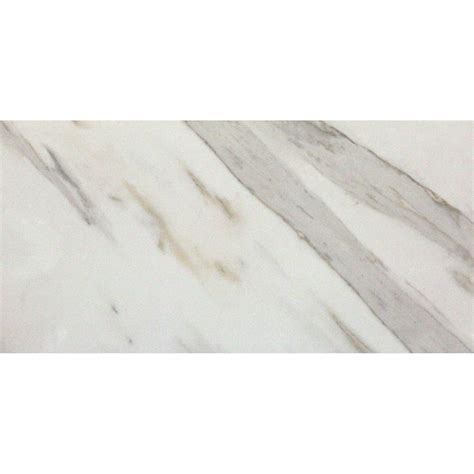 White Mosaic Tiles Bathroom - pietra calacatta 12 in x 24 in matte finish floor and wall tile 16 sq ft case