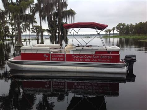 pontoon boat rental clermont fl tropical cove boat rentals boating 10233 cypress cove