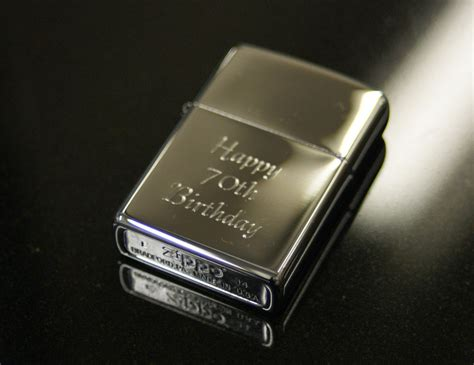 personalised genuine zippo lighter engraved free great