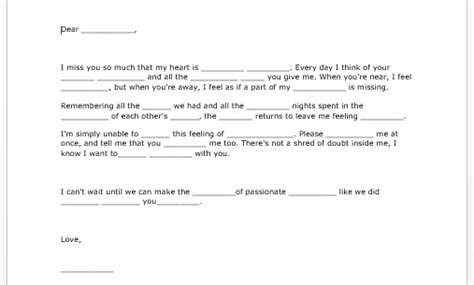 sle love letter microsoft word templates