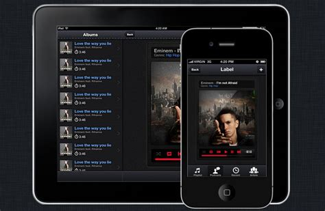 podradio iphone and ios app ui design templates