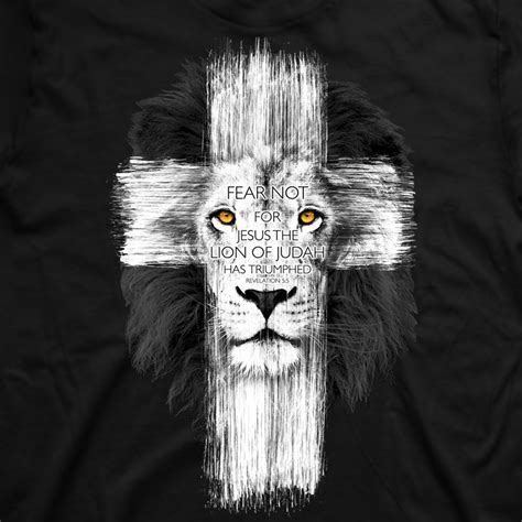 Lions And Christians of judah cross t shirt lions christian and