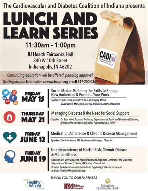 lunch and learn series incadi