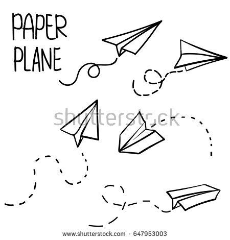 How Much Do Paper Routes Make - vector paper airplane travel route symbol stock vector