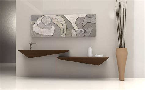 mensole muro di design lune design tzeno mensola a muro in corian e legno