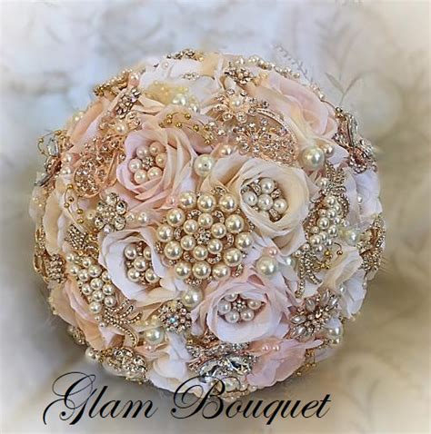 Custom Cascading Blush Rose Gold Bouquet   $665.00 ? GLAM