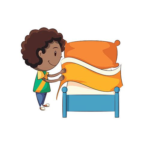 making bed royalty free making bed clip art vector images illustrations istock