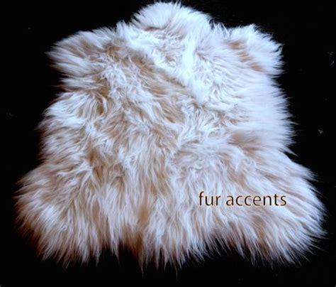fur accent rug 2x3 white faux fur sheepskin accent rug by fur accents