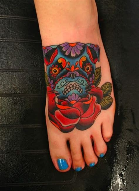 sugar skull pug 17 best images about tattoos on henna mehndi ohm and tat