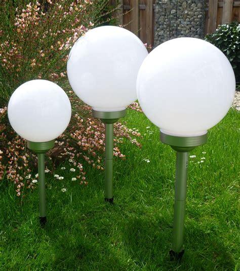 Solar Kugelleuchten Für Den Garten by 3er Set Led Solarleuchte 25 25 25 Cm Leuchtkugel Kugelleuchte Au 223 En Le Garten Ebay