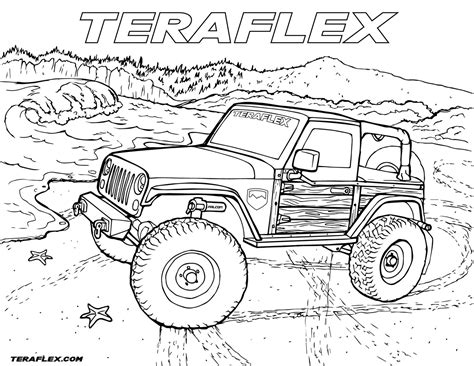 jeep rubicon coloring pages gallery teraflex jeep coloring pages teraflex