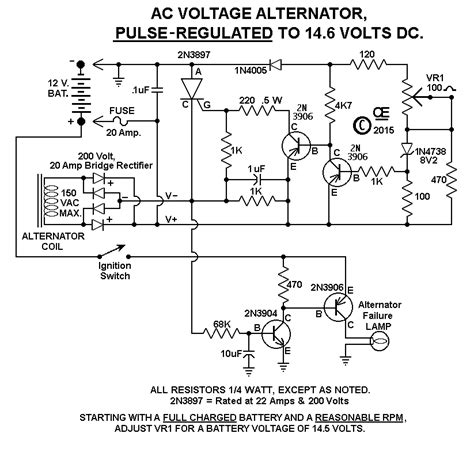 alternator regulator diagram of voltage wiring