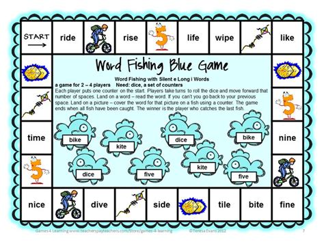 printable literacy board games phonics games silent e board games words fishing and