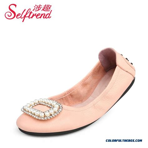 colored flats cheap colored pearl decoration square buckle