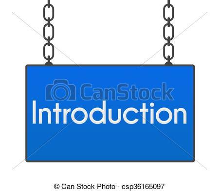 introduction clipart introduction bleu enseigne mot introduction sur